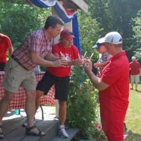 Serving treats Canada Day 2018