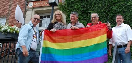 Pride flag raising 2017